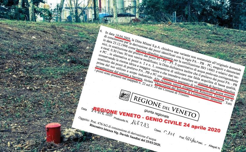 7 ottobre 2020 | IL CONCETTO DI CORRESPONSABILITÀ 2/2 – L'INCHIESTA BARRIERA/POZZO. L'OCCULTAMENTO DI UN CADAVERE AMBIENTALE EMERSO DALL'INCROCIO DI DOCUMENTI E TESTIMONIANZE. L'ACCORDO STATO-REGIONE-INDUSTRIA PER NASCONDERE IPFAS